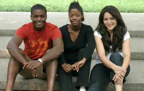 A picture of three teens, representative of the Flint Adolescent Study.